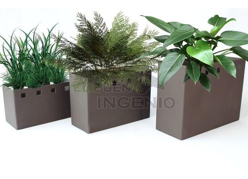 macetero jardinera 3 piezas para macetas de jardin cuadrados