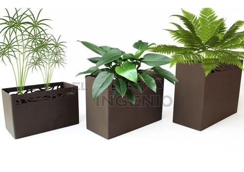 macetero jardinera 3 piezas para macetas de jardin ramas