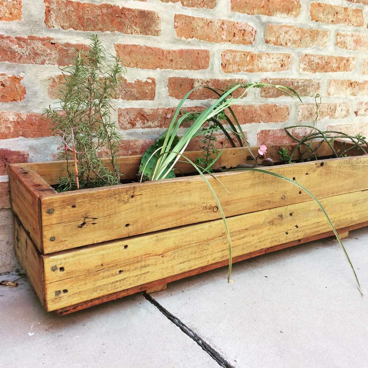 Macetero Jardinera De Madera Para Huerta O Aromáticas