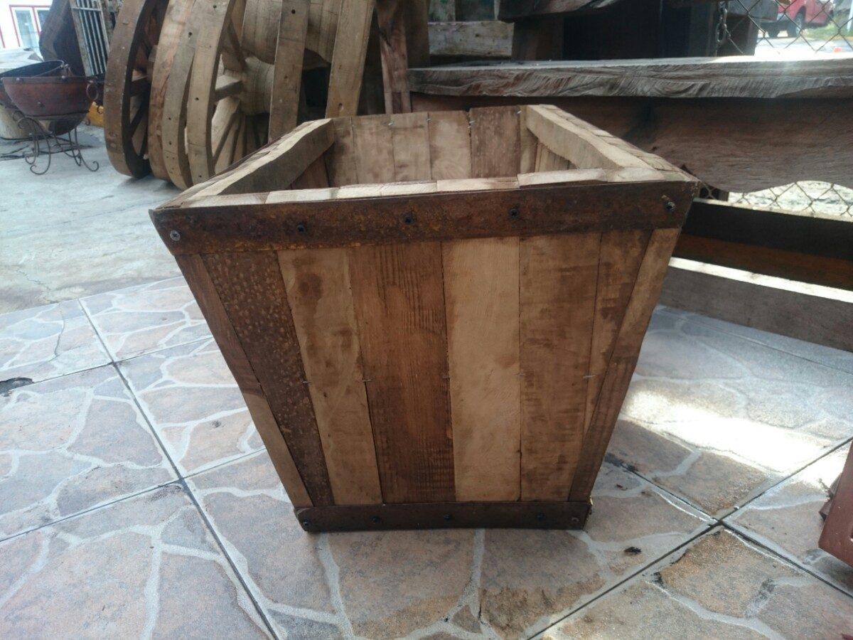 Maceta macetero o jardinera en madera estilo antiguo en mercado libre - Maceteros de madera baratos ...