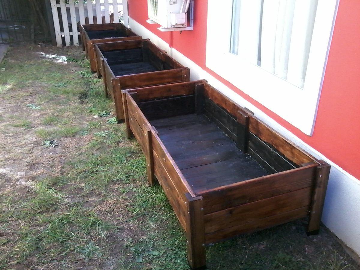 macetero jardinera para huerta madera reciclada de pallets