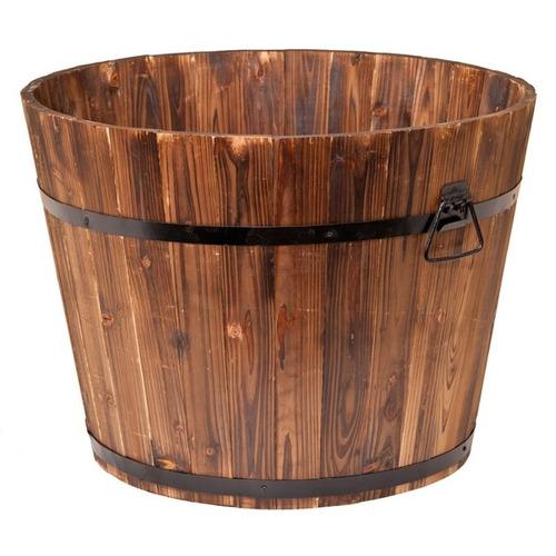 macetero large round whiskey barrel