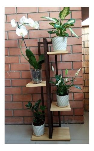 macetero plantas repisa jardín maceta madera