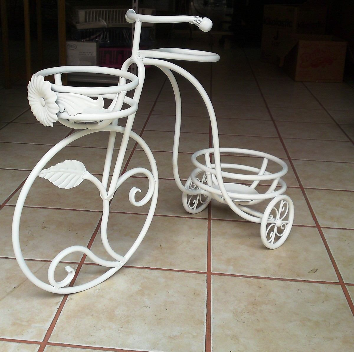 Macetero triciclo herreria casa jardin decoracion mesas - Bicicleta macetero ...