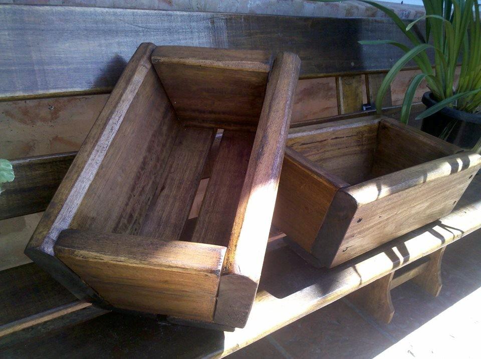 Maceteros de madera para exterior ideas con palets para - Maceteros de madera ...