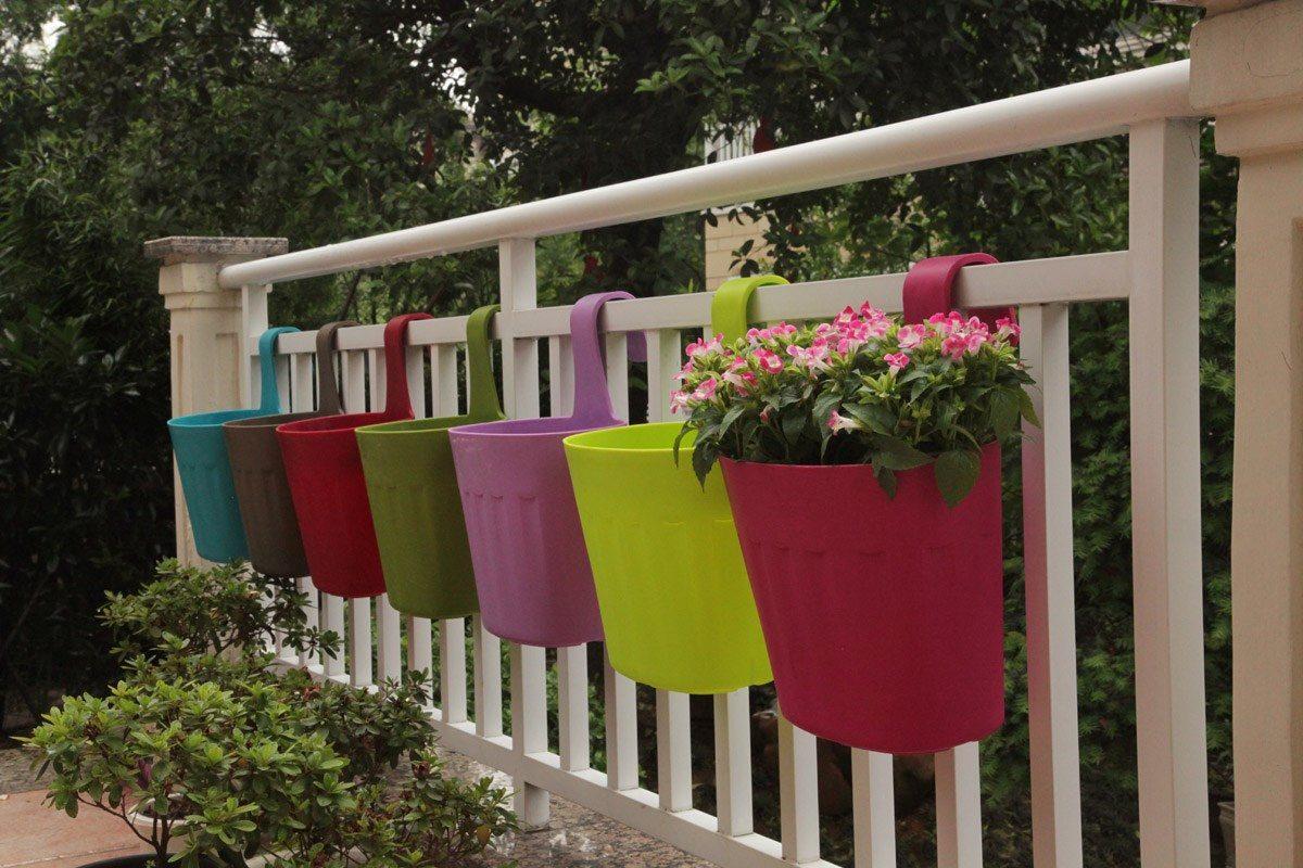 Maceteros colgantes para balcon en mercado libre for Balancines de madera para jardin