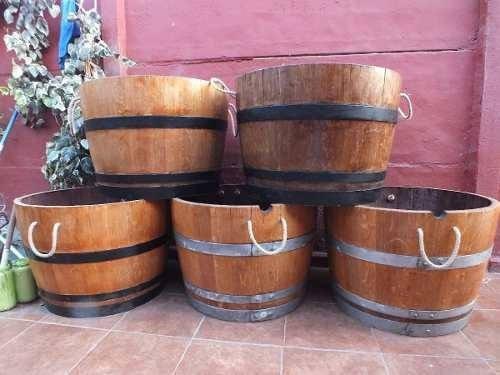 maceteros de barricas de vino roble barril