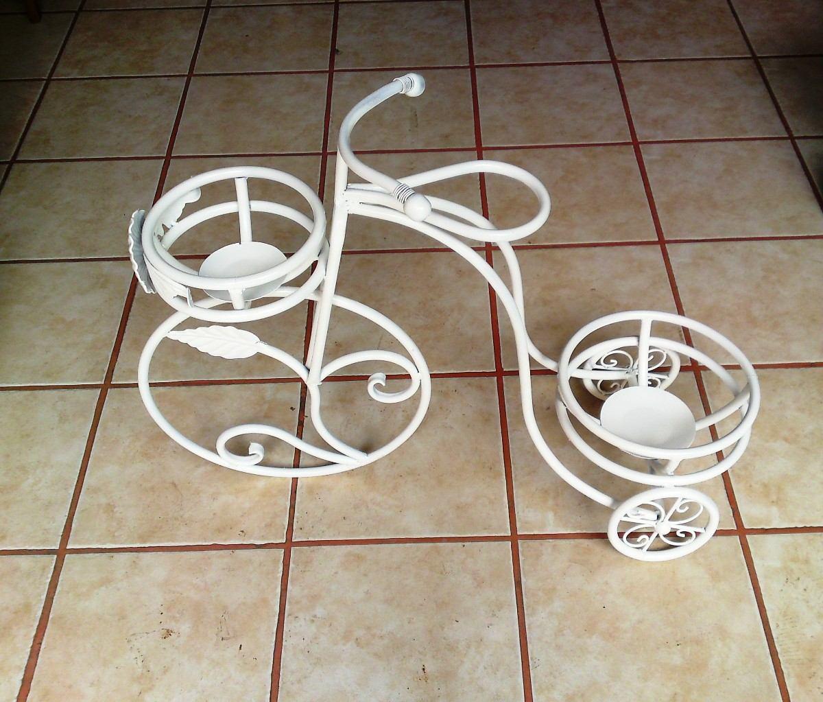 Maceteros de herreria para casa y jardin plantas y flores - Bicicleta macetero ...
