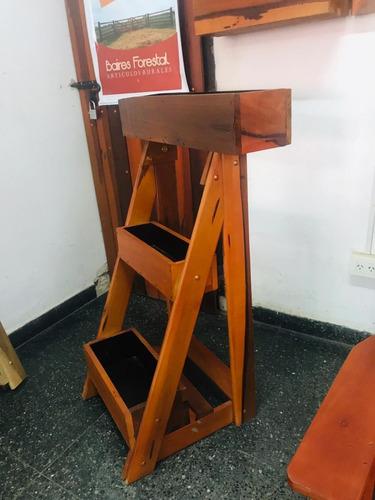 maceteros de pie/verticales/colgables en madera dura