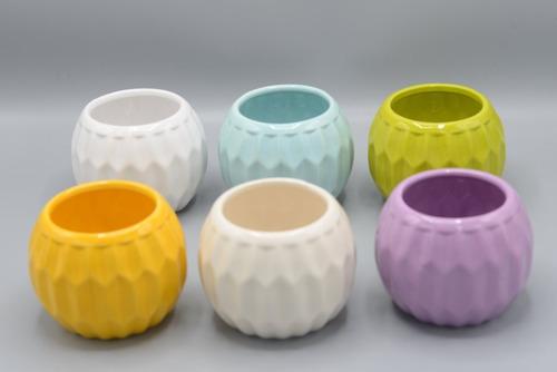 macetita de cerámica varios colores