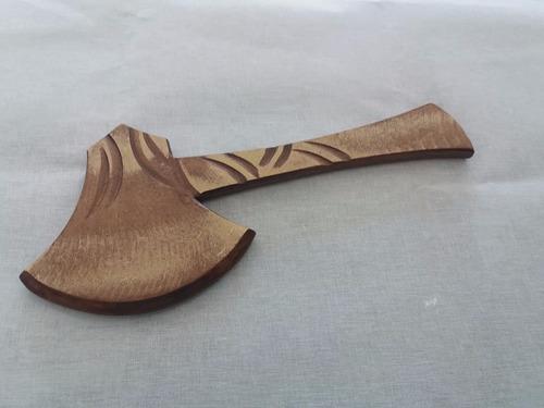 machado em madeira - umbanda / candomblé - em mdf - 36cm