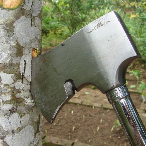 machado nautika dan aço inox com extrator de pregos farpas