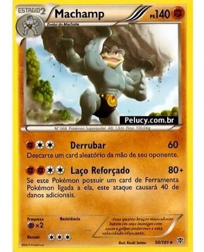 machamp - pokémon físico raro - 50/101 - pokemon card game