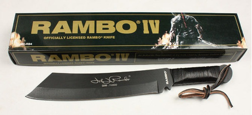 machete rambo 4 original edicion limitada autografiados