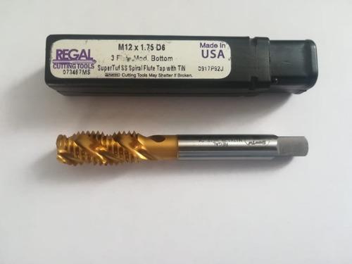 macho helicoidal para maq hsco, recub tin m12 x 1.75