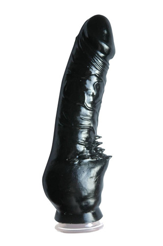 macizo - macizo c/ventosa cliterific black - sexshop
