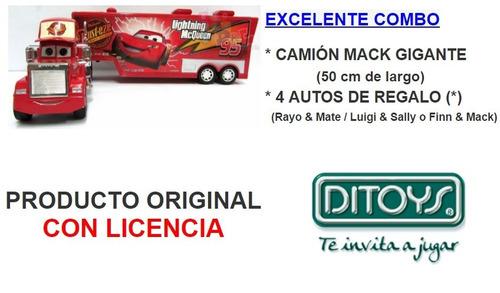 mack camión gigante 50cm cars + 4 autos + cartas 2 juegos