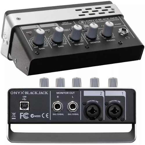 mackie onyx blackjack interface pre-onyx p/grabador usb 2x2.
