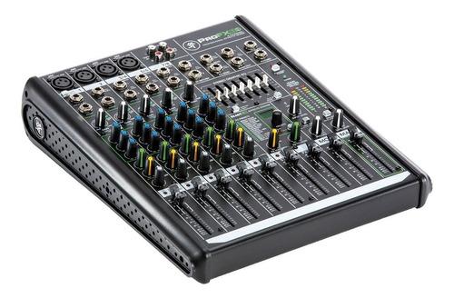 mackie profx8v2 consola 4 canales mono + 2 stereo usb mixer