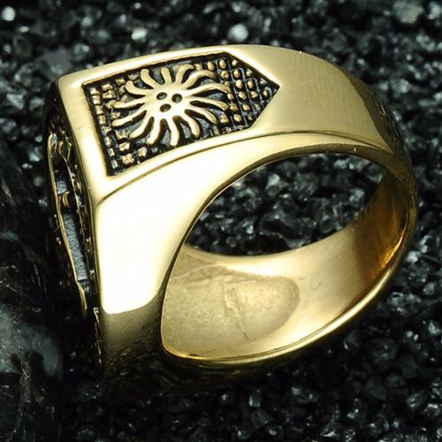 maçonaria aço anel ouro