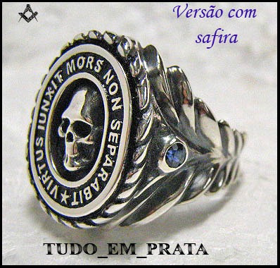 maçonaria prata, anel