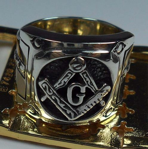 maçonaria prata anel masculino