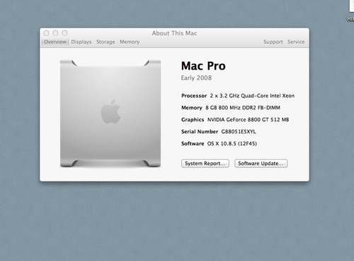macpro 3.1- intel xeon 3.2 ghz 4gbram hd 1t