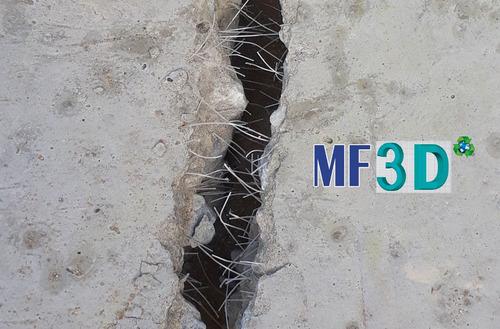 macro fibra 3d pet refuerzo para mortero y concreto/hormigón