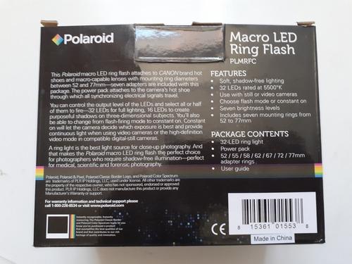 macro led ring flash polaroid