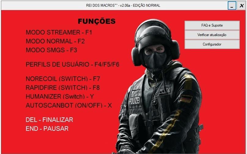 Macro Rainbow Six Siege 2019 Norecoil+rapidfire - Vitalicio