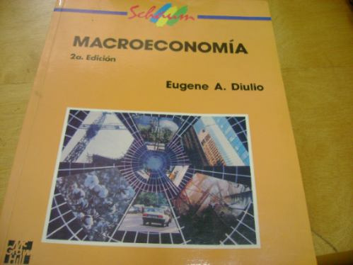 macroeconomìa,1995,autor eugene a. diulio,mc graw hiill edit