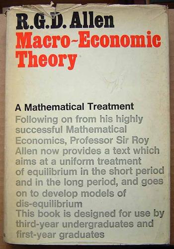 macroeconomic theory, r.g.d. allen
