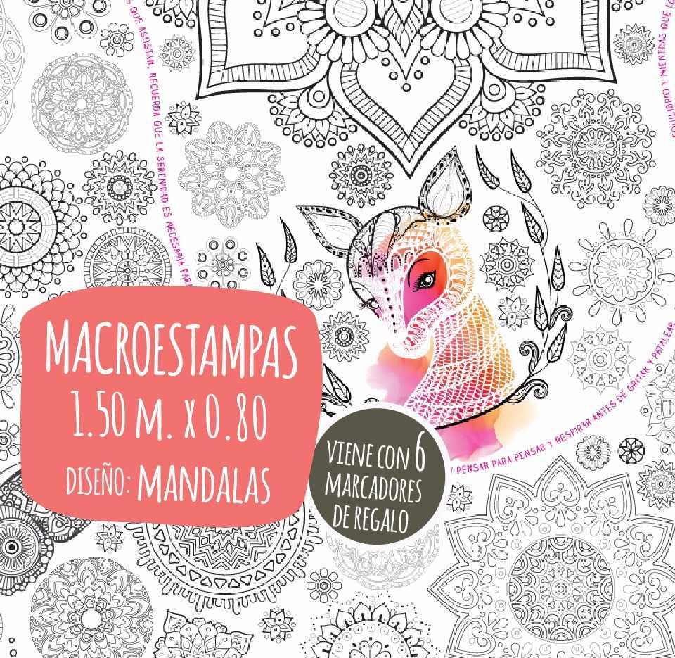 Macroestampa Diseño Mandalas Para Colorear Papel Blanco - $ 550,00 ...