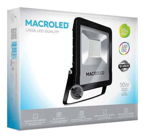 macroled reflector led 50w luz fría 6500 kflsv2-50