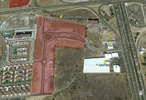 macrolote de 6,600 m2 uso mixto en valle de juriquilla