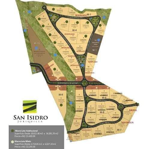 macrolote uso de suelo habitacional de 17,999m2 en adelante en san isidro