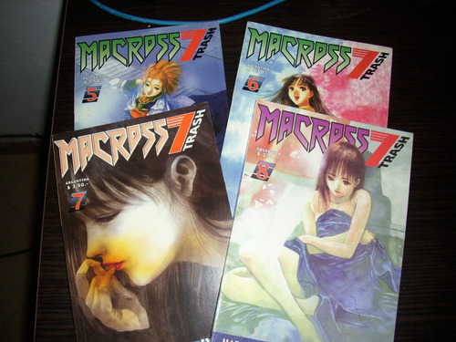 macross 7 trash mikimoto manga 1, 2, 3, 5, 6, 7