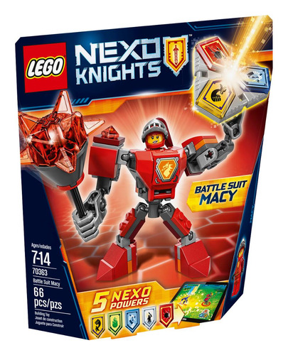 macy con armadura de combate lego - 70363