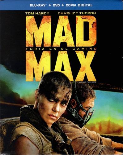 mad max furia en el camino pelicula blu-ray + dvd + comic