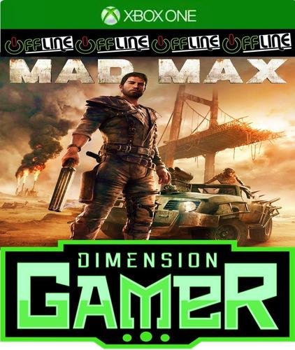 mad max - xbox one - no codigo - off-line