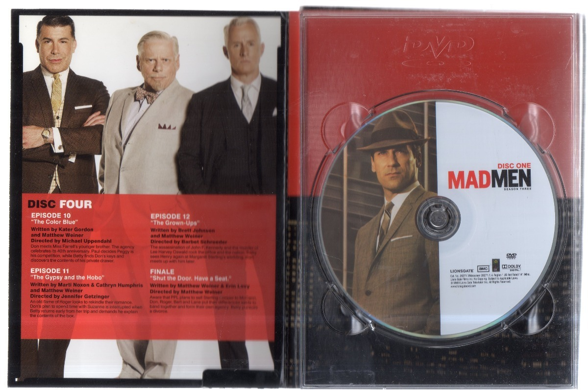 Mad Men Cuarta Temporada Dvd Región 1