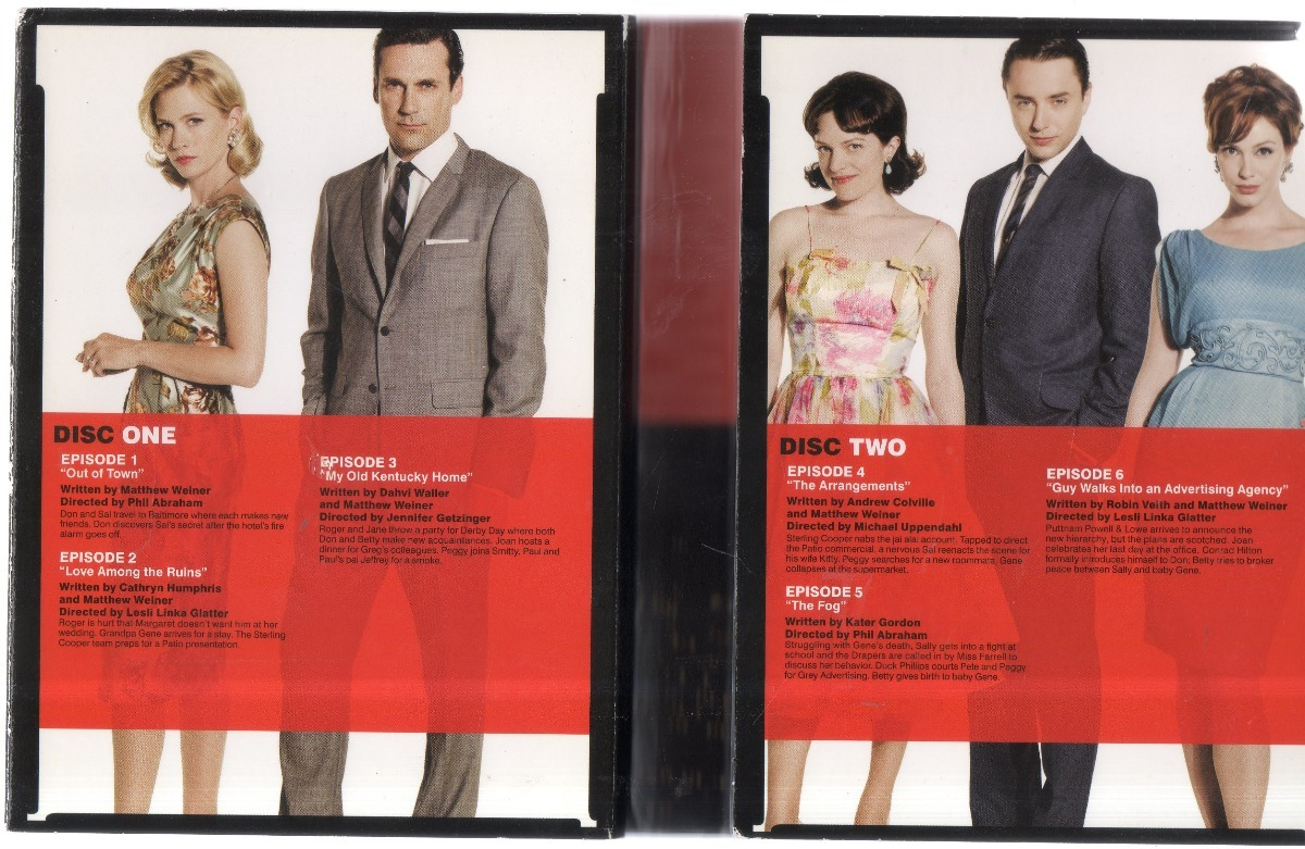 Mad Men Cuarta Temporada Dvd Región 1 - $ 300.00