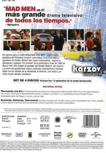 mad men sexta temporada 6 seis serie dvd