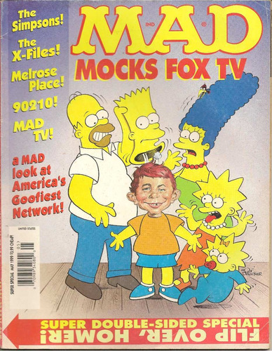 mad, mokcs fox tv, especial doble 2 en 1, original en inglés