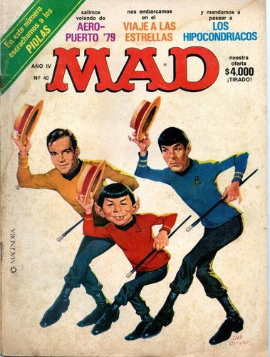 mad  nº40, viaje a las estrellas,julio1980 edición argentina