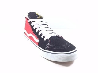mad rats hi top original preto vermelho - galeria do rock