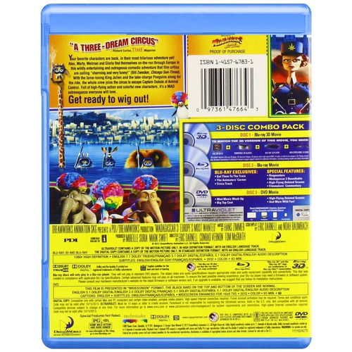 madagascar 3: europe's most wanted (blu-ray 3d)