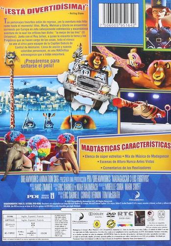 madagascar 3 tres los fugitivos pelicula dvd