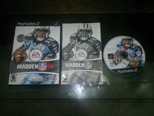 madden nfl 08 completo para play station 2, excelente titulo