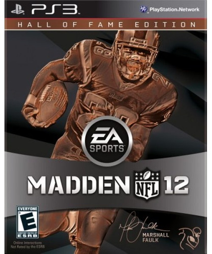 madden nfl 12 hall of fame edition - playstation 3